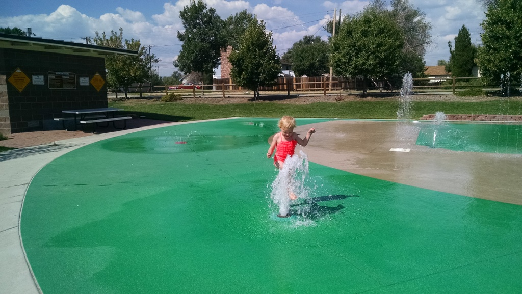 Our last playdate at the splash park.