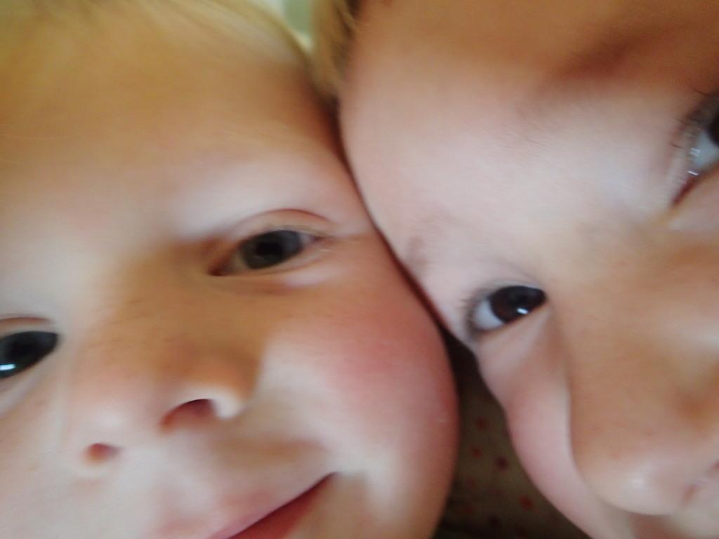 Selfie the kids took. So sweet when they aren' t fighting.