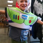 I usually make the kids' costumes, but was struggling to find time. Cooper was stuck on being Buzz Lightyear. A week before Halloween I went to Goodwill and truly felt it was a tender mercy when we found this.