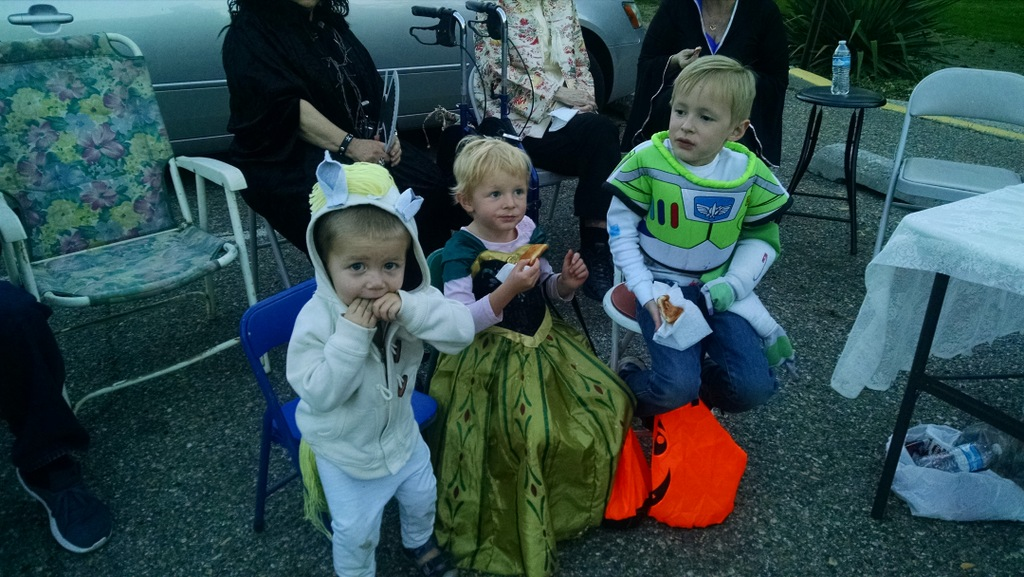 The kids clearly loved all the treats.