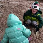 Kids digging for bones.