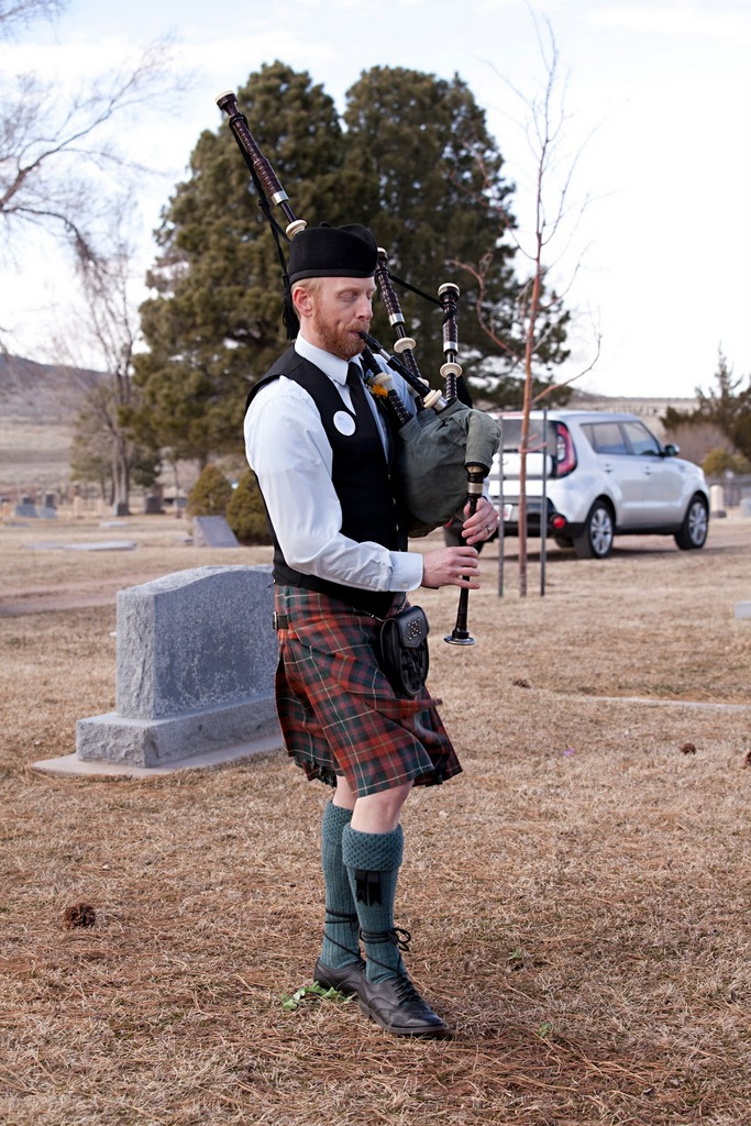 Colin on bagpipes. The bagpipes were a really nice touch.
