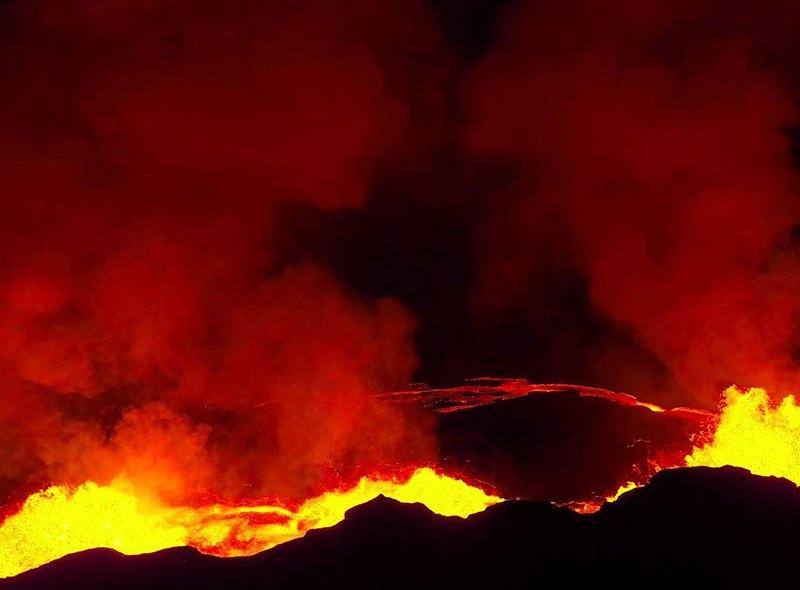 Erupcja wulkanu Bardarbunga z perspektywy drona