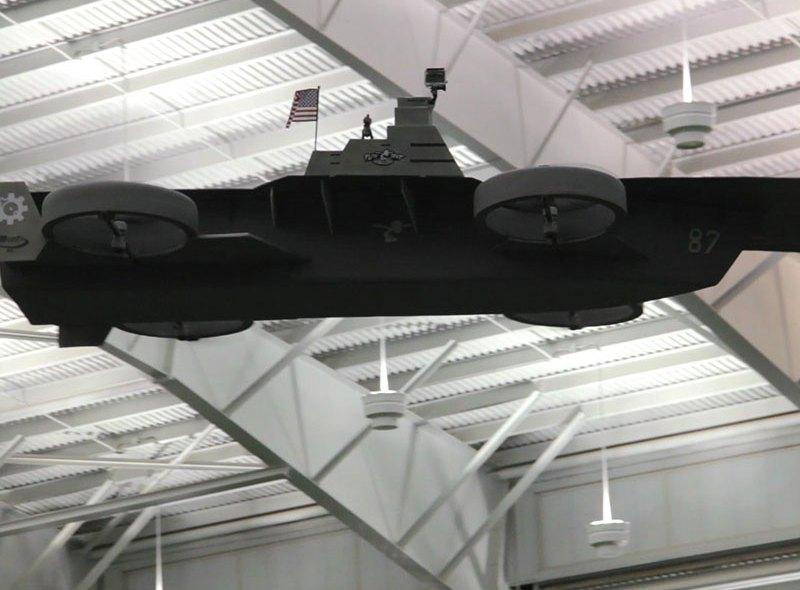 Latający lotniskowiec dla dronów