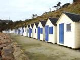 Badehäuschen am Strand von Carteret