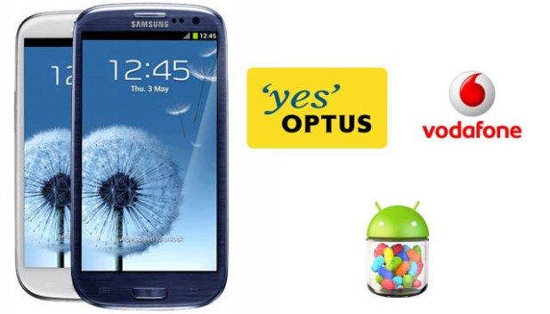 SGS III Optus and Vodafone