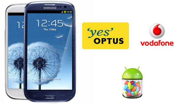 SGS III Optus and Vodafone
