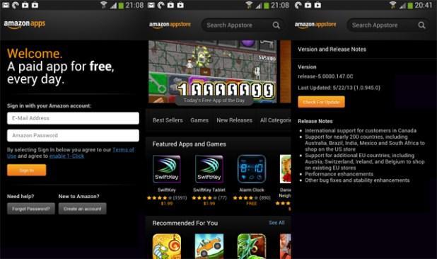 Amazon App Store Screenshots