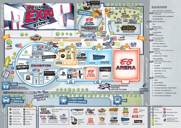 EB Games Expo Map