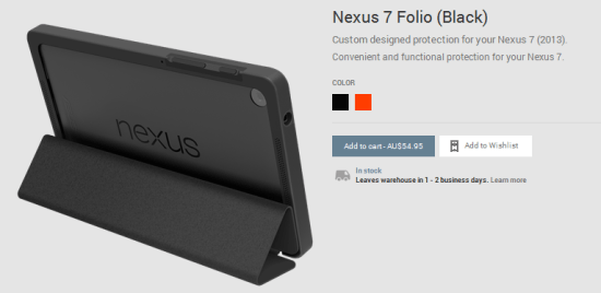 Nexus 7 Folio Case - Black