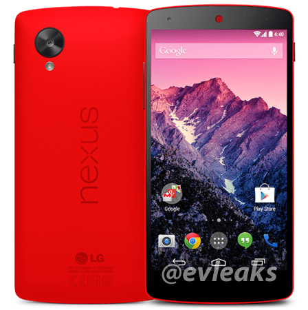 LG Nexus 5 Red Press Render