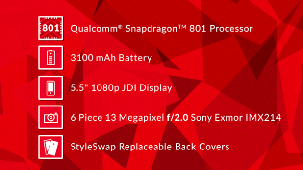 OnePlus Spec sheet