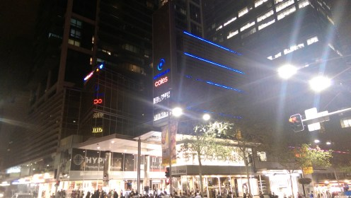World Square by night