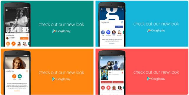 Google Play Material Design update