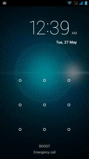 Pretty standard lock screen