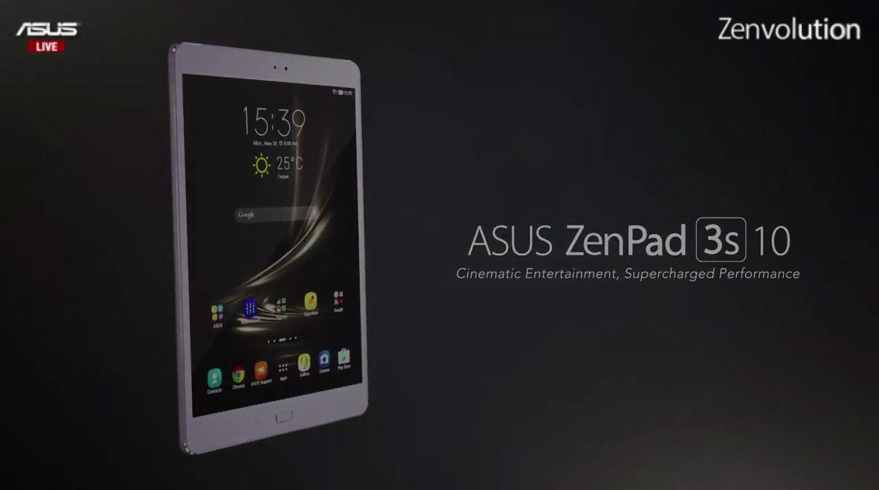 IFA 2016: Asus unveils the Zenpad 3s 10