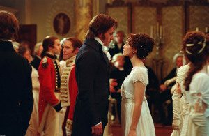 Pride and Prejudice (2005) – Visual Parables http://www.readthespirit.com Mr. Darcy and Elizabeth Bennet start off on the wrong foot at a ball. (c) 2005 Focus Features