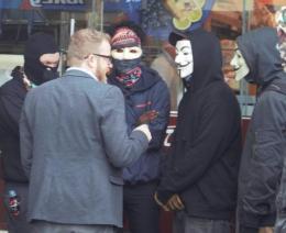 John Safran incites anarchist violence in Coburg
