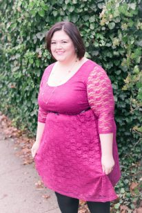 ASOS Curve Lace Skater Dress