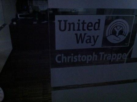 Christoph's dark United Way office