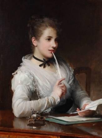 The Love Letter by 19th century painter, Sir Samuel Luke Fildes.