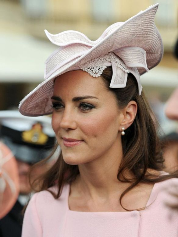 Catherine at her first garden party as a member of the royal family ahead of the Diamond Jubilee celebrations in 2012. Source: Could not locate original source.