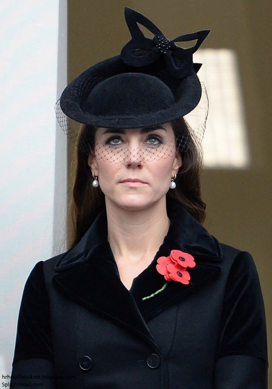 Catherine attending a Remembrance Sunday ceremony in 2015. Source: Could not locate original source.