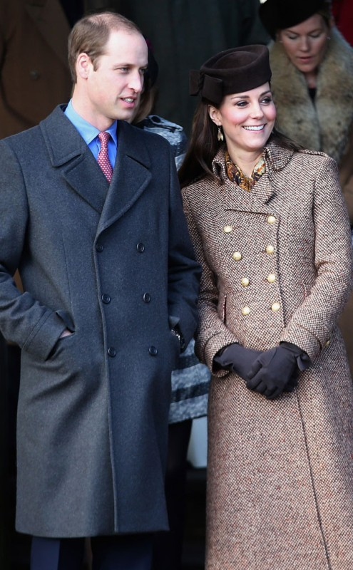 Catherine with Prince William attending the Royal Family's Christmas Day church service, 2014. Source: Chris Jackson / Getty Images.