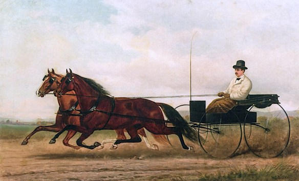 """Horses and Buggy"" circa 1876, by Henry Collins Bispham (American, 1841–1882). / Source: www.the-athenaeum.org"