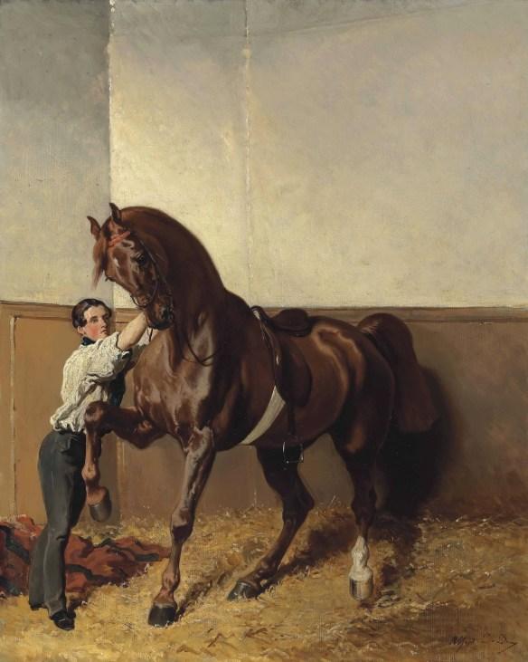 """""""Départ pour la promenade"""" circa 1855, by Alfred de Dreux (French, 1810 –1860). / Source: Pinterest"""