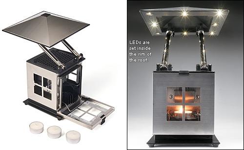 tealight powered lantern