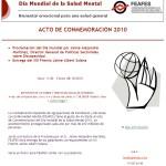 Día Mundial de la Salud Mental 2010: Bienestar emocional para una salud general