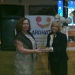 Apanate recibe el premio Unión y Progreso en el casino de Arafo