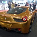 Gold plated Ferrari 458 Italia 1