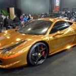 Gold plated Ferrari 458 Italia