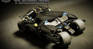 RC fully functional Lego Tumbler Batmobile 10