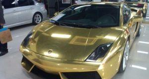 gold plated Lamborghini Gallardo
