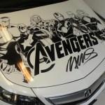 Humberto Ramos' Avengers Artwork on Acura TL  8