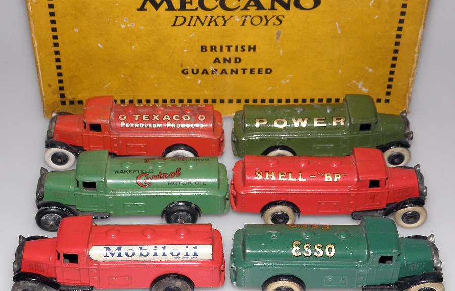Camions citerne publicitaire de chez Dinky Toys avant-guerre