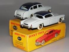 Dinky Toys essais de couleurs deux tons de bleu pour la Ford Vedette 1954 et la Studebaker