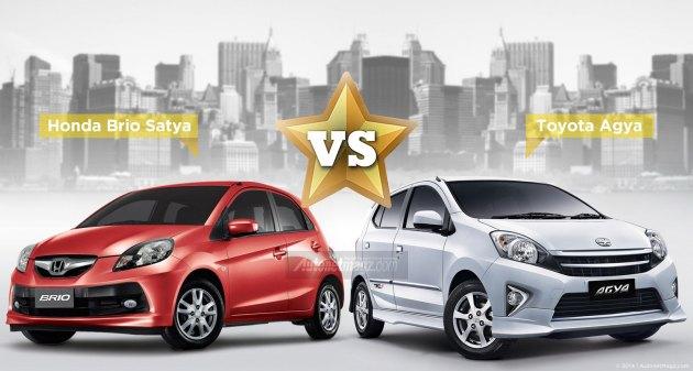 Perbandingan Honda Brio Satya dengan Toyota Agya