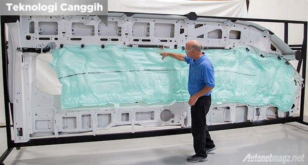 Curtain airbag terbesar pada Ford Transit