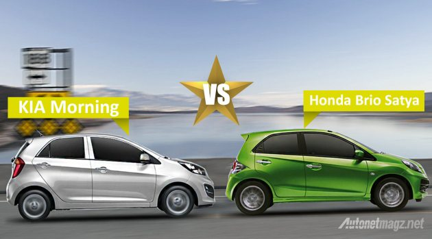 KIA-Morning-VS-Honda-Brio-Satya