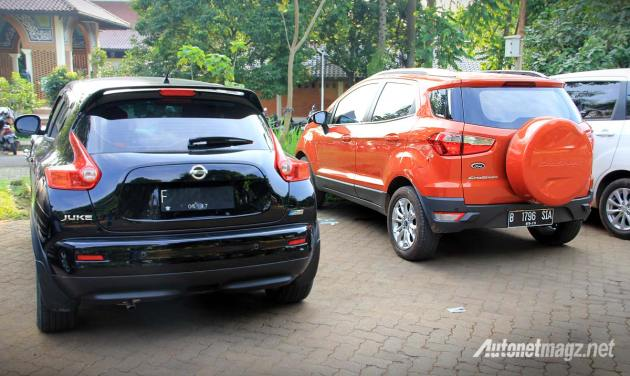 Komparasi visual Ford EcoSport dengan Nissan Juke