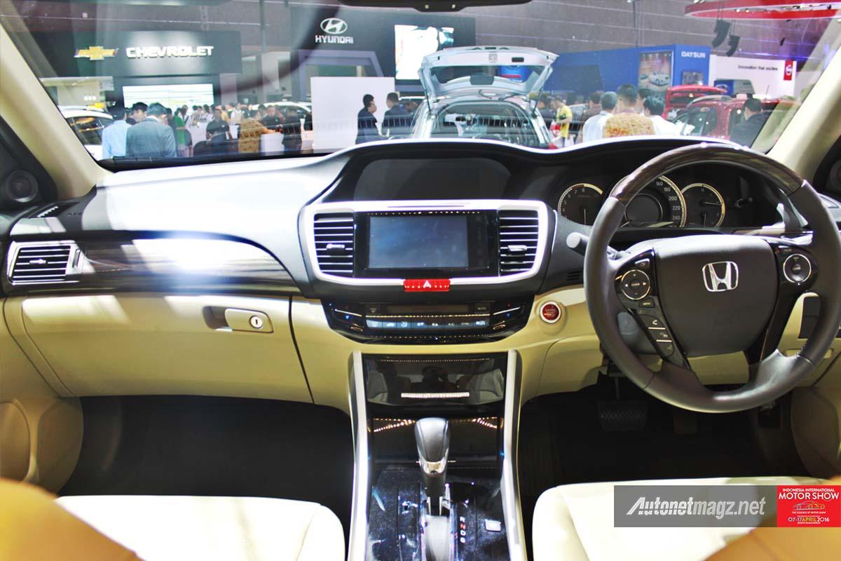 honda accord facelift indonesia iims 2016 interior