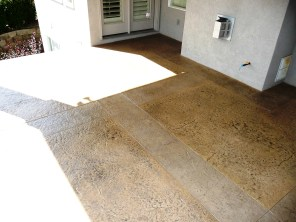 Stamped patio overlay.