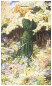 The Lovers' World, 1905, by Eleanor Fortescue-Brickdale, from 120 Great Fairy Paintings