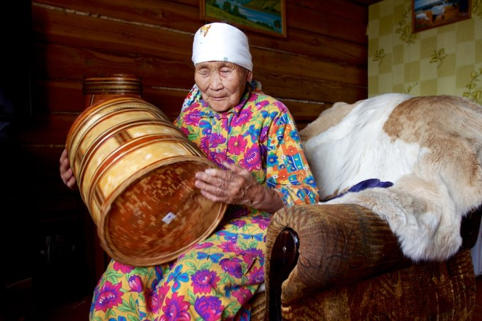 Praskovia Petrovna Matannakova, 93, Yakutia, Siberia. Photo © 2013 Galya Morrell