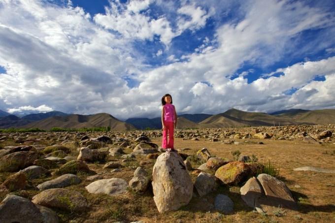 Ajara, the youngest Avannaa's Ambassador in Kyrgyzstan. Photo ©  Galya Morrell