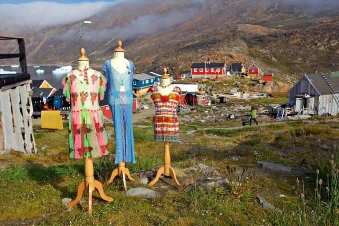 Nikolai Kristensen. Bead dresses. Nuusuuaq, Northern Greenland. Photo © 2012 Galya Morrell